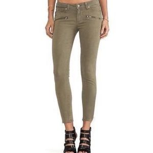 PAIGE Indio ZIP Jeans in Green Size 25